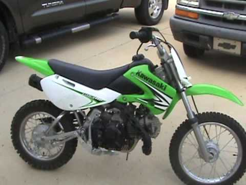 kawasaki klx 110 sound - youtube
