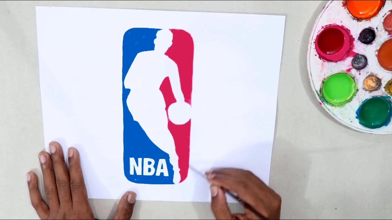 How to draw the NBA logo @National Basketball Association