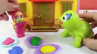 Masha Arkadaşlarıyla Oyunlar Oynuyor Eğlenceli Oyunlar Eğitici Videolar Çizgi Film İzle
