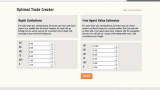 scoutPRO - Using the Optimal Trade Creator