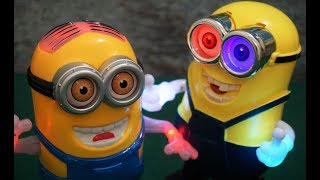 Two Minions CRAZY Dance With Flashing Light & Music | Minion Toy For Kids