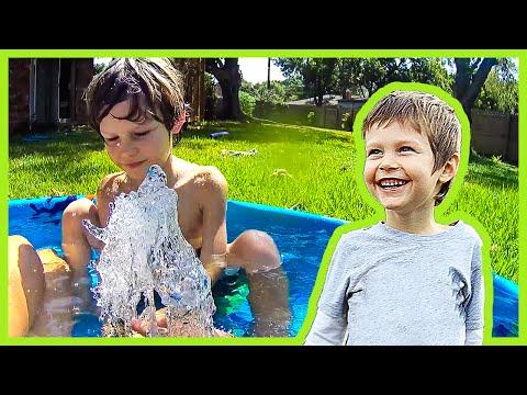 Backyard Water Hose Fun