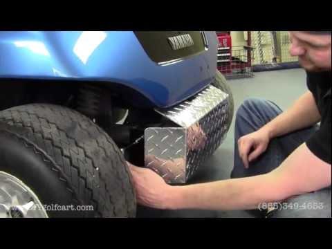 Yamaha G14, G16, G19, G22 Front Diamond Plate Bumper | How to Install Video  | Golf Cart Accessories