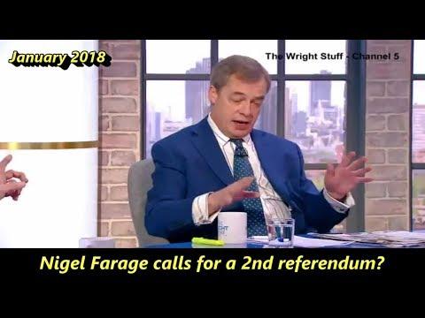 Nigel Farage calls for a 2nd EU referendum???