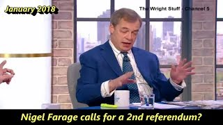 Nigel Farage calls for a 2nd EU referendum???