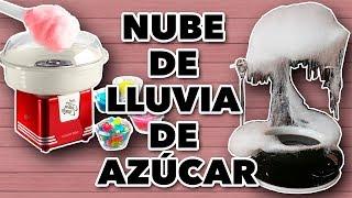 NUBE DE LLUVIA DE AZÚCAR / PROBANDO MÁQUINA PARA HACER ALGODÓN DE AZÚCAR. EXPECTATIVA/REALIDAD