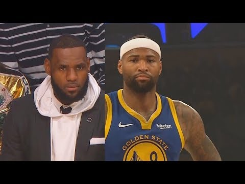 LeBron James Watches DeMarcus Cousins Ruin The NBA & Klay Thompson Goes Crazy! Warriors vs Lakers