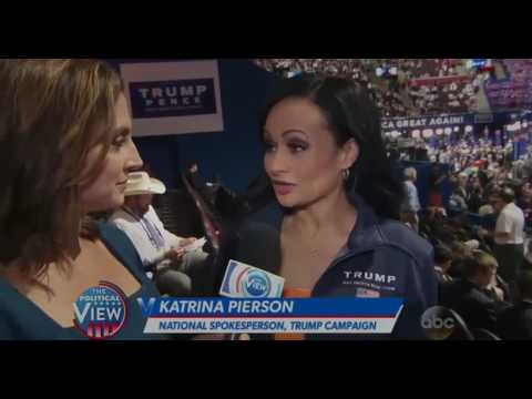 NEWW!!  On The View July 21 2016: Paula Faris Reports Live From The GOP Convention in Cleveland