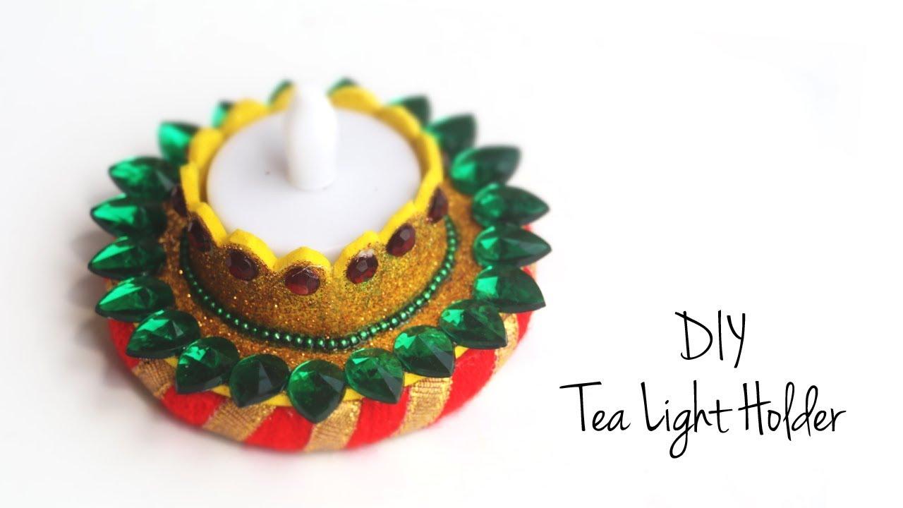DIY Diwali Decoration Ideas | Candle Stand | Diya Stand - YouTube