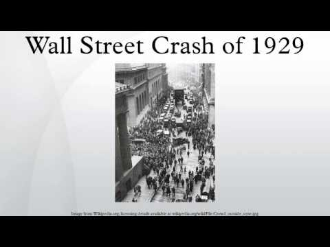 speculation in the wall street crash The wall street crash divides two eras: the jaunty 'jazz age' of the  by 1926 it  was clear there was a feverish speculative element to the boom.