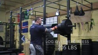 320lb Log Overhead Press, 805 Banded Deadlift Full Workout & Commentary