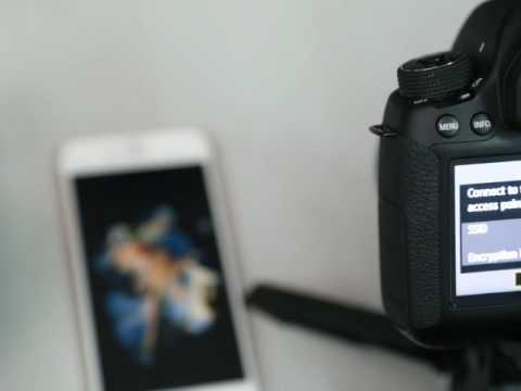 Hướng Dẫn Kết Nối Wifi Trên Canon 6D - IOS