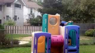 Epic Geek Does Parkour On Little Tikes Playset