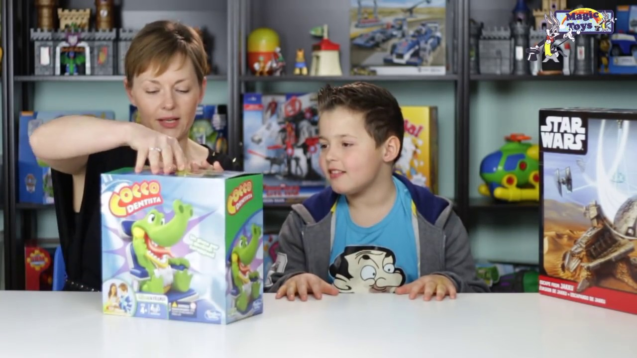 079666f58b79 IL COCCODRILLO COME FA 🐊 Cocco Dentista pericoloso - HASBRO gioco per  bambini VikDaG Studio Lame
