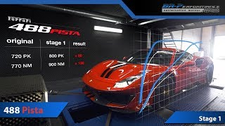Ferrari 488 Pista 3.9 V8 Bi-Turbo 800Hp Stage 1 By BR-Performance