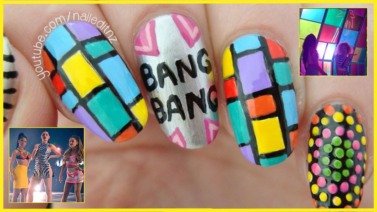 Bang Bang - Jessie J, Ariana Grande, Nicki Minaj | Nail Art Tutorial ...