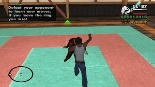 How to learn all three Gym Moves (Fight Moves) very early in the Game - GTA San Andreas