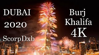 New Year's 2020: Dubai puts stunning fireworks show at world's tallest building for 2M Live Viewers!