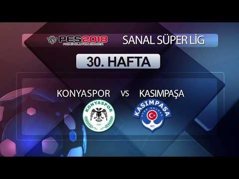 Konyaspor - Kasımpaşa | PES 2018 Sanal Süper Lig 30. Hafta