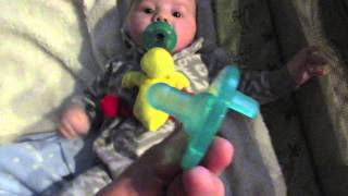 Wubbanub Pacifier Review with Cute Baby Avery! Baby Registry Idea!