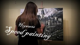 Harry Potter Hogwarts School - speed painting