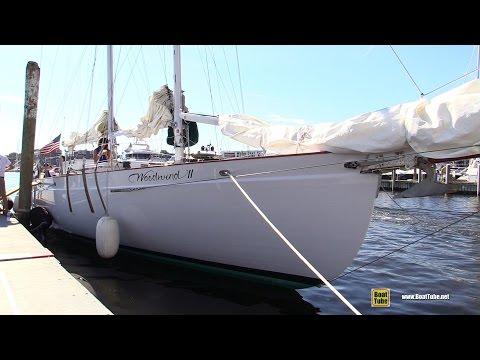 Woodwind II - 74 foot Schooner - Deck Walkaround - 2015 Annapolis Sail Boat Show