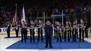 The Juilliard Trombone Choir Plays the National Anthem at Madison Square Garden