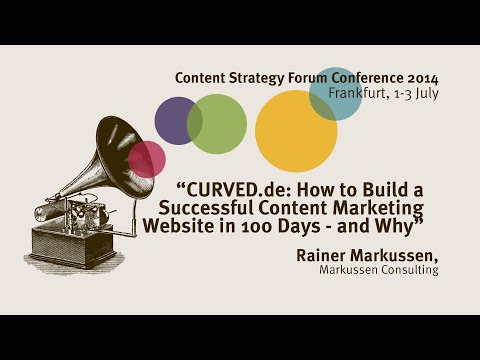 Rainer Markussen: Curved.de: How to build a successful website - Content Strategy Forum 2014