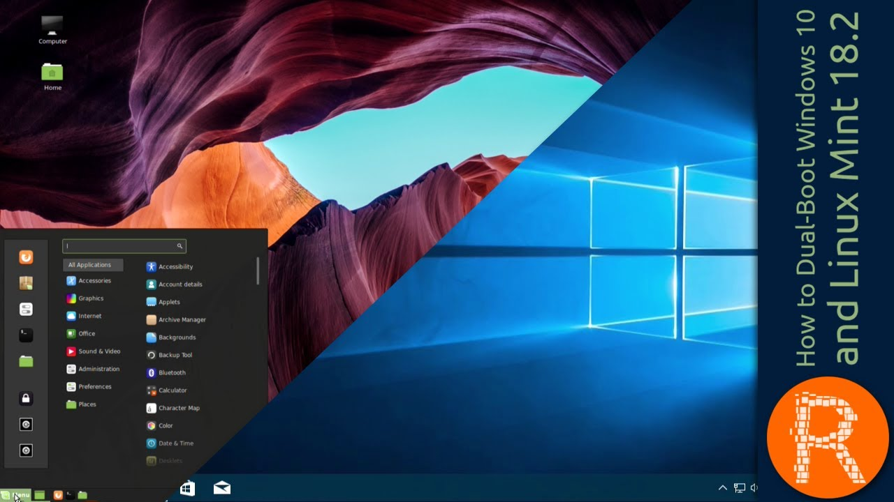 how to create dual boot windows 10 and linux