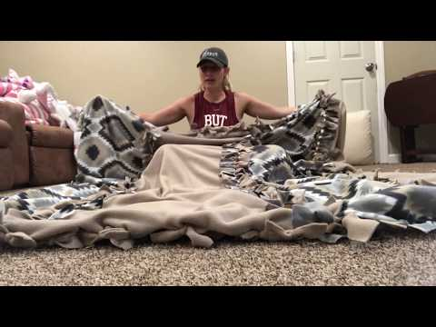 how-to-make-a-large-fleece-tie-blanket-#fleece-#tieblanket-#fleeceblanket
