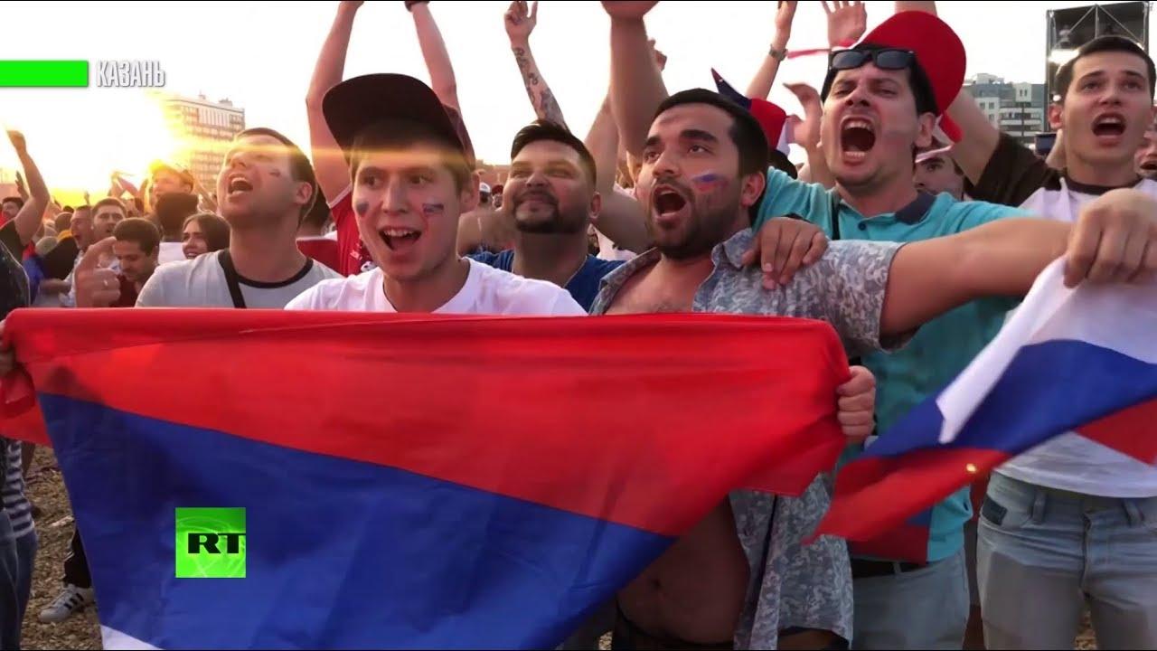 Россия ликует: национальная сборная вышла в четвертьфинал