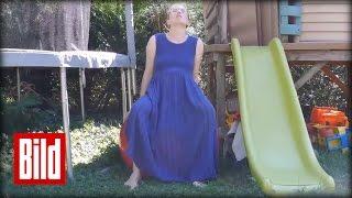 Geburt im Garten: Mutter bringt Kind zwischen Rutsche und Trampolin zur Welt thumbnail