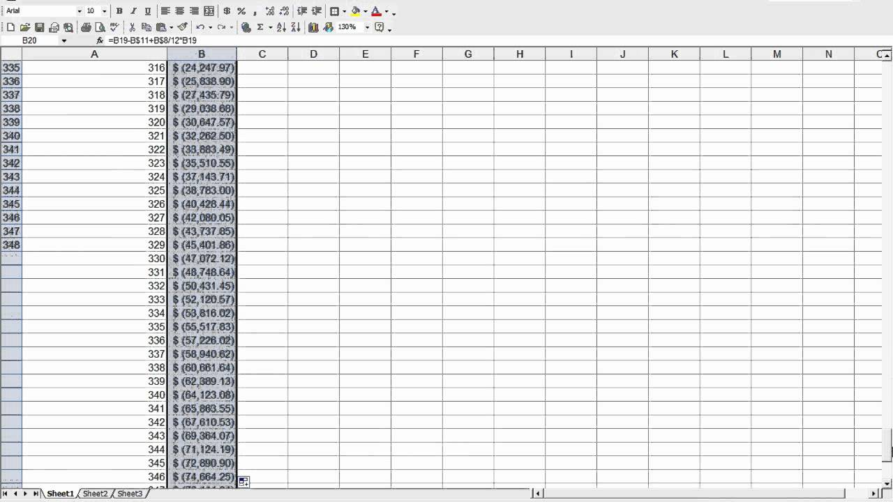 How to build a simple mortgage calculator on a spreadsheet for Build a house calculator