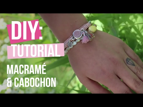 DIY Tutorial: Basis Technik Macramé und Cabochon – Selbst Schmuck machen
