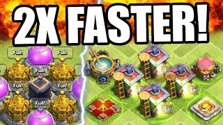 Clash Of Clans | DARK ELIXIR 2 x FASTER!! | Epic Dark Elixir Farming Strategy 2016!