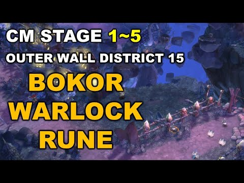 [TOS] (Bokor - Warlock - Rune) Outer Wall District 15 CM Stage 1~5