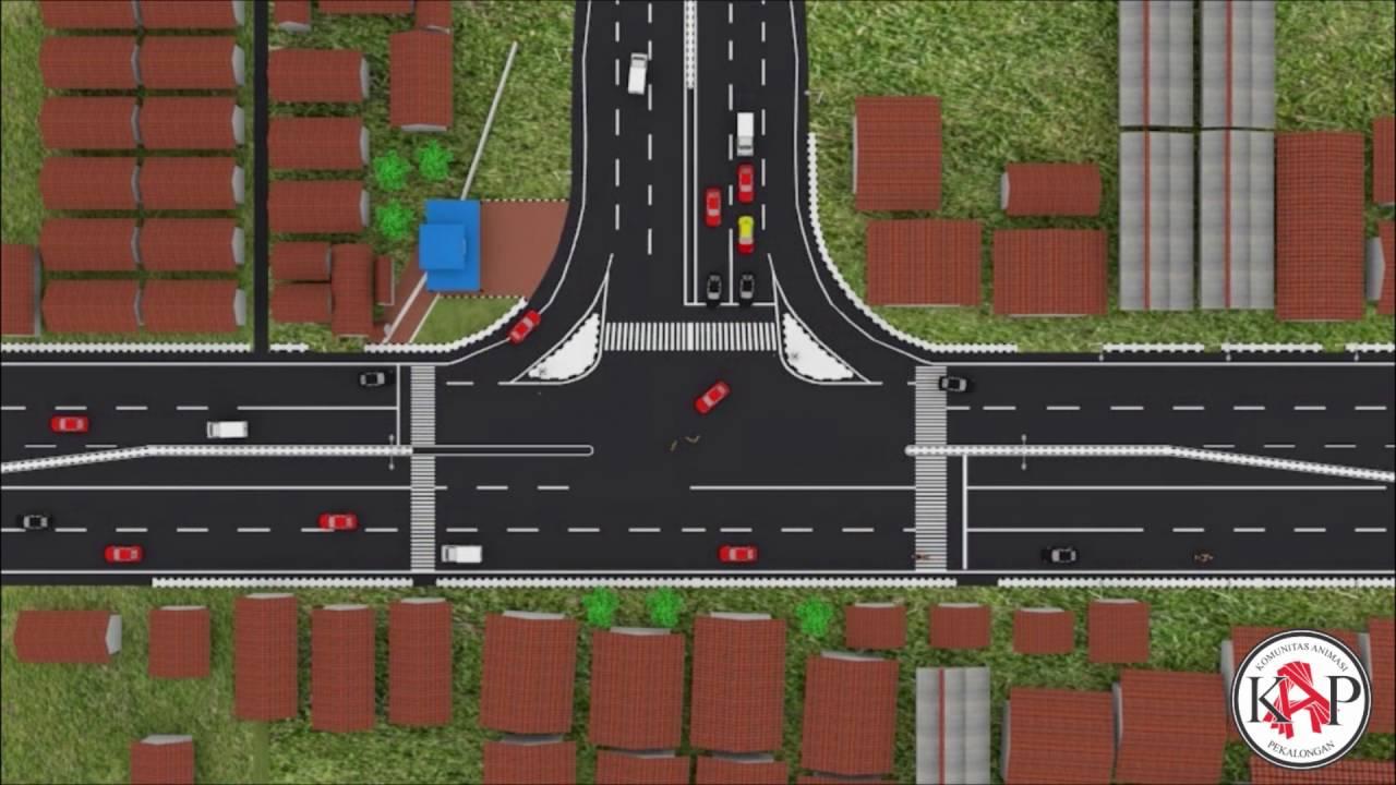 Animasi 3D Rekayasa Lalulintas Jalan Raya #blender