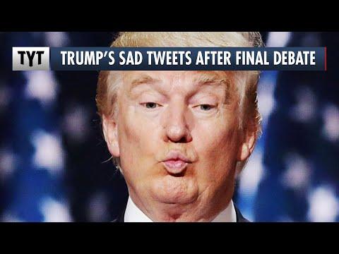 Trump's Pathetic Tweets After Final Debate