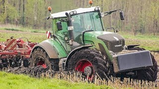 Fendt 936 & John Deere 6R | working in the mud | AgrartechnikHD