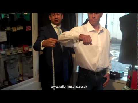 TailoringUK - Measuring for a Bespoke Shirt