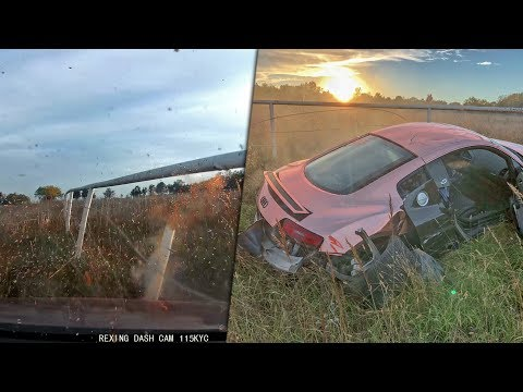 FOOTAGE OF MY AUDI R8 CRASH... (dashcam)