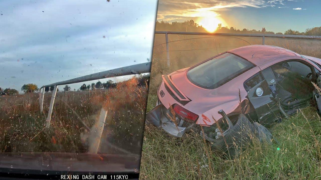 FOOTAGE OF MY AUDI R8 CRASH... (dashcam) - YouTube