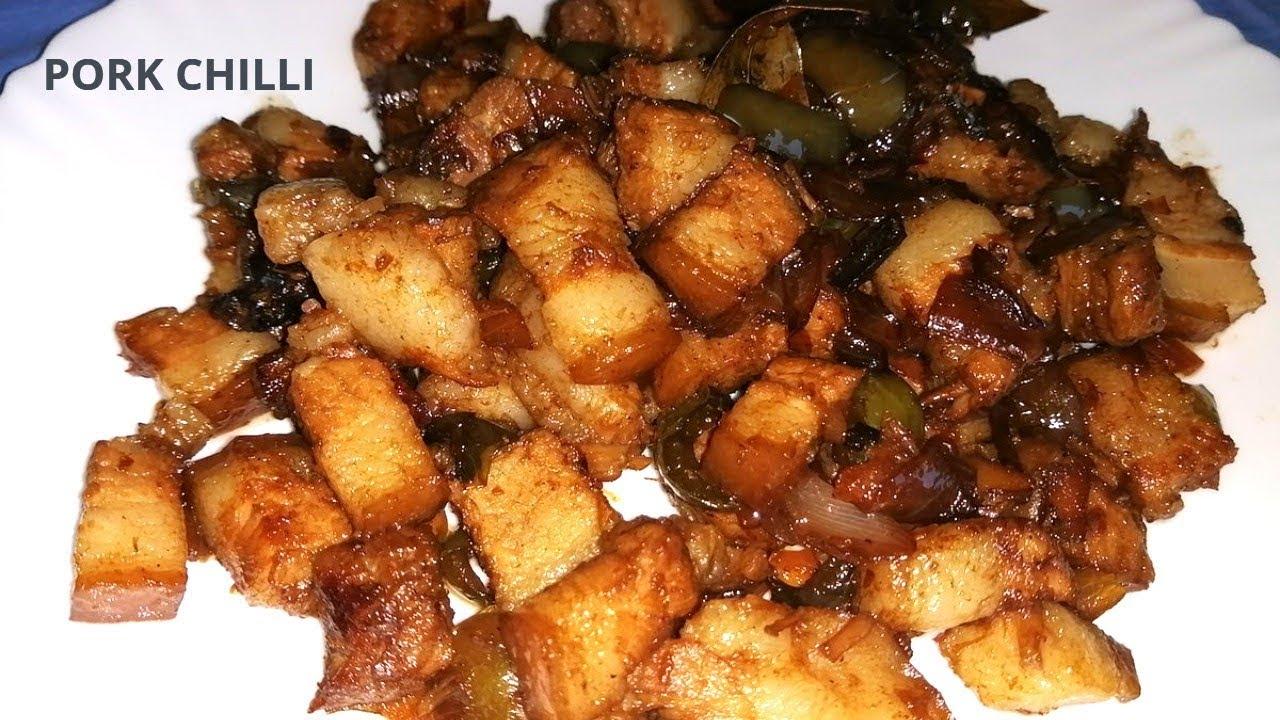 Pork Chilli Mangalorean Recipe Chilli Pork Mangalore Style Youtube