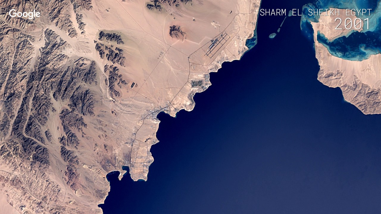 Sharm El Sheikh, Come era e come è vista dal Satellite!