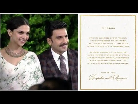 Deepika Ranveer Wedding Card: दीपिका-रणवीर ने किया शादी का ...