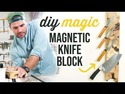 DIY Magnetic Knife Rack - HGTV Handmade