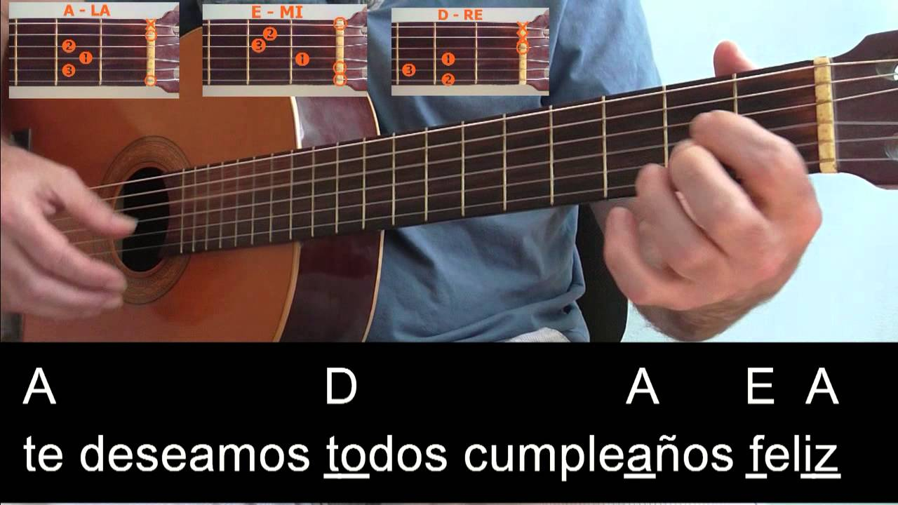 Cumpleaños Feliz Canción Fácil Con Tres Acordes Youtube
