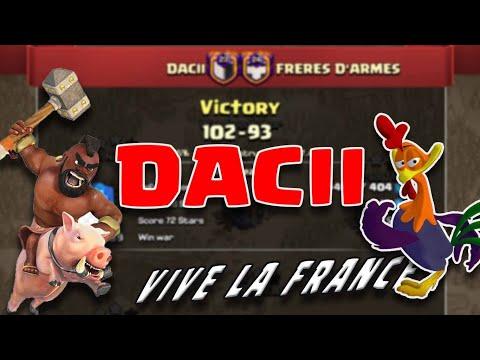 DACII Vs FRERES D'ARMES   22 Triples With TH 13 QW + Hybrid & YETI BLIMP   3 Stars War Attacks
