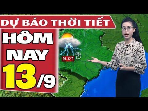 Dự báo thời tiết hôm nay mới nhất ngày 13/9/2020   Dự báo thời tiết 3 ngày tới