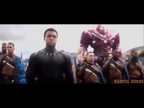 ALL WAKANDA BATTLE SCENES AND THOR SAVES WAKANDA SCENES // Avengers Infinity War!!!